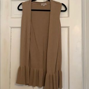 Loft sleeveless cardigan